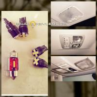 Lampu LED plafon mobil pajero sport isi 5 buah super bright ARSYLED