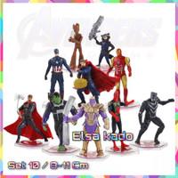 Action Figure Avengers Set Isi 10 Endgame Marvel Mainan Super Hero