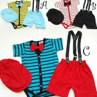 baju setelan suspender anak bayi cowok laki bestseller murah