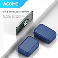 Acome A1 Paket Combo Dapat 2 Speaker TWS Bluetooth 5.0 Portable