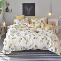 Bedcover set Sprei Katun Catra Motif Nanas ukuran 160x200x20