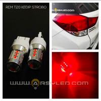 Lampu Led rem Strobo Mobil Honda Kedip 15 titik T20 4 kawat ARSYLED