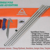 Tiang Flysheet Ultralight Kailash Adventure Single Pole - Econopack