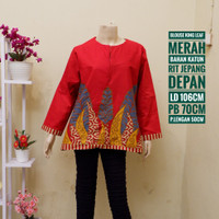 blouse batik wanita king leaf