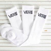 Kaos kaki Vans Polos tebal panjang pria wanita untuk olahraga sport - Putih