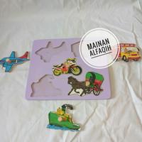 Mainan Edukasi Puzzle Transportasi Knop