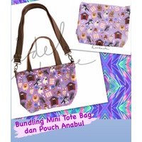 Bundling Mini Tote Bag dan Pouch Anabul