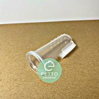 sikat gigi jari lembut untuk hewan pet kucing anjing kelinci marmut