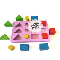 Mainan Edukasi Anak Papan Balok Geometri Warna
