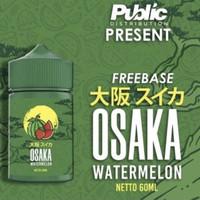Osaka Watermelon 60ml Freebase by Public Distribution Liquid Semangka