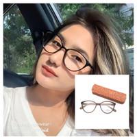 Kacamata Minus Wanita Kekinian Cat Eye Gratis Lensa Antiradiasi