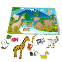 Mainan Edukasi Anak Puzzle Kayu Gambar Pemandangan