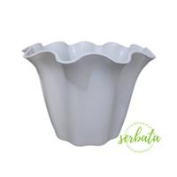 Pot bunga KB Shallom Primadona 15 Putih / pot plastik