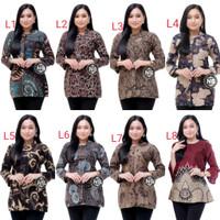 Baju batik wanita modern | Atasan batik wanita Blouse terbaru