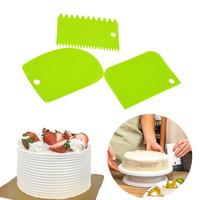 Scraper Set 3 pc Alat Pemotong Adonan Penghias Kue Buttercream Fondant