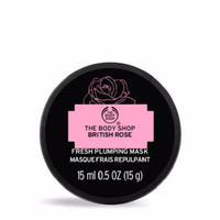 The Body Shop British Rose Fresh Plumping Mask 15Ml Masker Wajah Ori