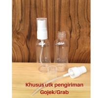 Botol Plastik Bening 60 ml Tutup Spray Putih Susu Neck 18 Khusus Gojek