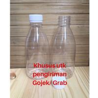 Botol Cantik 350 ml Plastik Tebal Tutup Segel Warna Putih