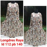 LONGDRESS RAYA Home Dress Rayon Gamis Batik