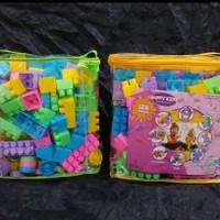 Mainan Edukasi lego Happy kids Building Block isi 126 free tas
