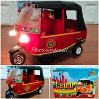 Mainan Bajaj Tradisional Bump Go Musik Lampu
