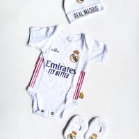 Jumper Bayi Karakter Club Real Madrid Set Topi Kupluk Sepatu Bayi