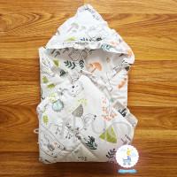 Hoodie blanket katun jepang fukuro / selimut topi / selimut bayi