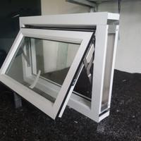 kusen jendela aluminium 1 set lengkap 40x60 kamar mandi