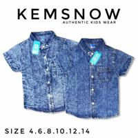 Kemeja Jeans Anak 4-14 Premium Snow Wash