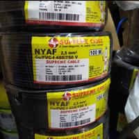 KABEL SUPREME SERABUT NYAF 2.5MM @100M - Kuninghijau