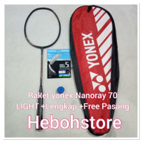 FREE PEMASANGAN SENAR RAKET BADMINTON YONEX NANORAY 68 LIGHT PROMO