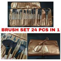 MAKE UP BRUSH SET 24 IN 1 - KUAS MAKE UP LENGKAP - Gold