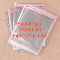 Plastik Opp 30x40cm Plus Lem Import Opp Bag 30x40 cm Plus Seal