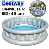 Kolam Renang Anak Bestway 51080 Lingkaran Abu Medium Size 152×43