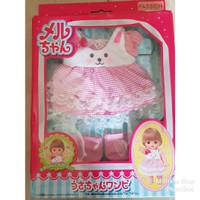 Baju Boneka Mell Chan Rabbit Dress Kelinci Set Mellchan Lengkap