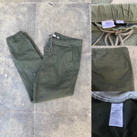 Celana Jogger GAP Twill Stretch Joggerpants Army Green Original Chino