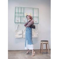 Glery skirt plisket / Rok plisket / Rok denim wanita