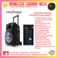 SPEAKER MEETING PORTABLE ADVANCE K-881 K 881 BLUETOOTH WIRELESS PROMO