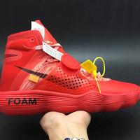 Sepatu Basket Nike Hyperdunk Off White Red Black