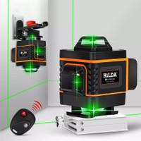 laser level green rotary 4D 16 lines horisontal vertical cross line