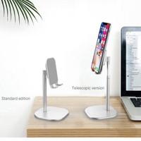 Handphone/Tablet Stand Holder Putih dan stainless