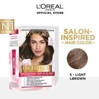 L'Oreal Paris Excellence Creme Hair Color - 5 Natural Light Brown