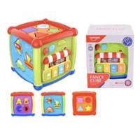 Mainan Edukasi Anak Bayi Balita Fancy Cube 11 Blocks