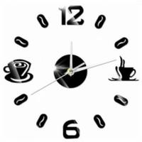 Jam Dinding DIY 50-60Cm Model Coffee Bell Dekorasi Cafe Dapur