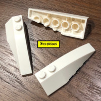 LEGO PARTS 4160101 - Right Shell 2x6 with Bow Angle White