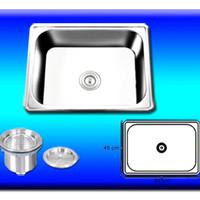 Kitchen Sink TRISINK T6045B Bak Cuci Piring 1 Lubang Dalam Stainless