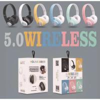 Headphone Bluetooth 66BT Macaron Versi 5.0 Wireless Young Bass