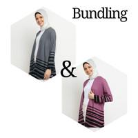 Emikoawa Bundling 2 - Outer Wanita Gamis Hijab Tunik Kulot Blouse