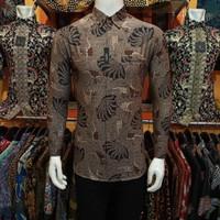 Kemeja Batik Slimfit Pria Lengan Panjang Alisan original