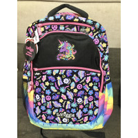 Smiggle Backpack Express Unicorn Black Pink Rainbow Tas Anak Original